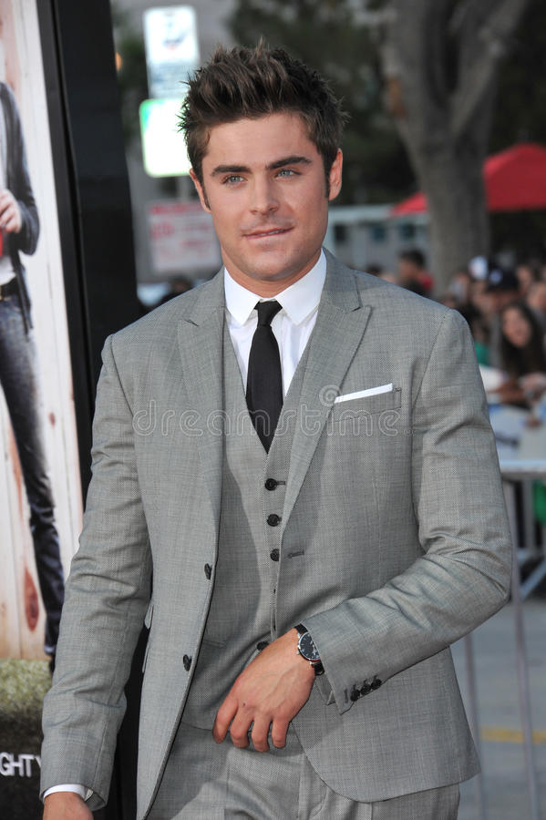Zac Efron. LOS ANGELES, CA - APRIL 28, 2014: Zac Efron at the world premiere of his movie Neighbors at the Regency Village Theatre, Westwood royalty free stock images