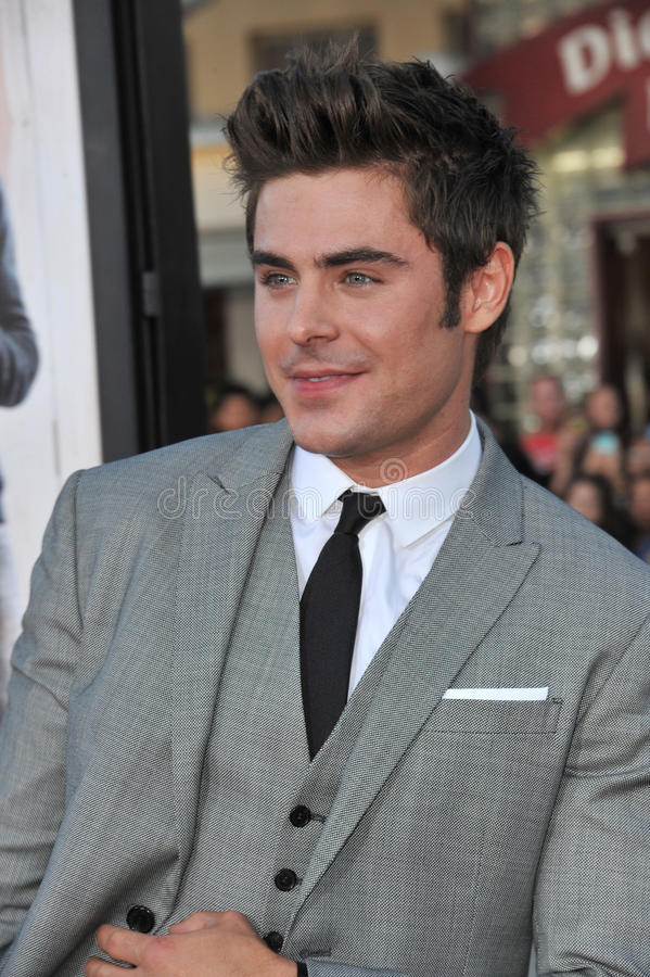 Zac Efron. LOS ANGELES, CA - APRIL 28, 2014: Zac Efron at the world premiere of his movie Neighbors at the Regency Village Theatre, Westwood royalty free stock photography