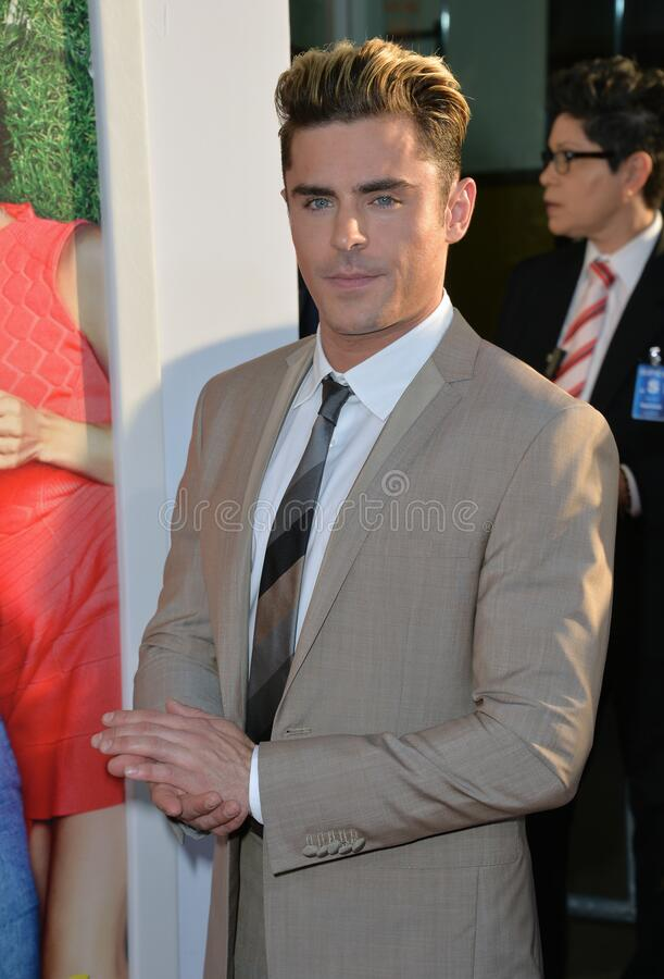 Zac Efron. LOS ANGELES, CA. June 29, 2016: Actor Zac Efron at the premiere of Mike and Dave Need Wedding Dates at the Cinerama Dome, Hollywood stock photography