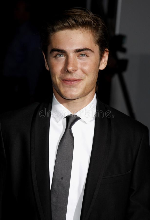 Zac Efron. At the Los Angeles premiere of `High School Musical 3: Senior Year` held at the Galen Center in Los Angeles, USA on October 16, 2008 stock photos