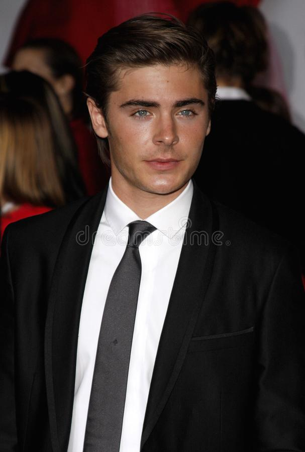 Zac Efron. At the Los Angeles premiere of `High School Musical 3: Senior Year` held at the Galen Center in Los Angeles, USA on October 16, 2008 stock photo