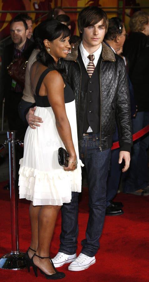Zac Efron och Monique Coleman royaltyfria foton