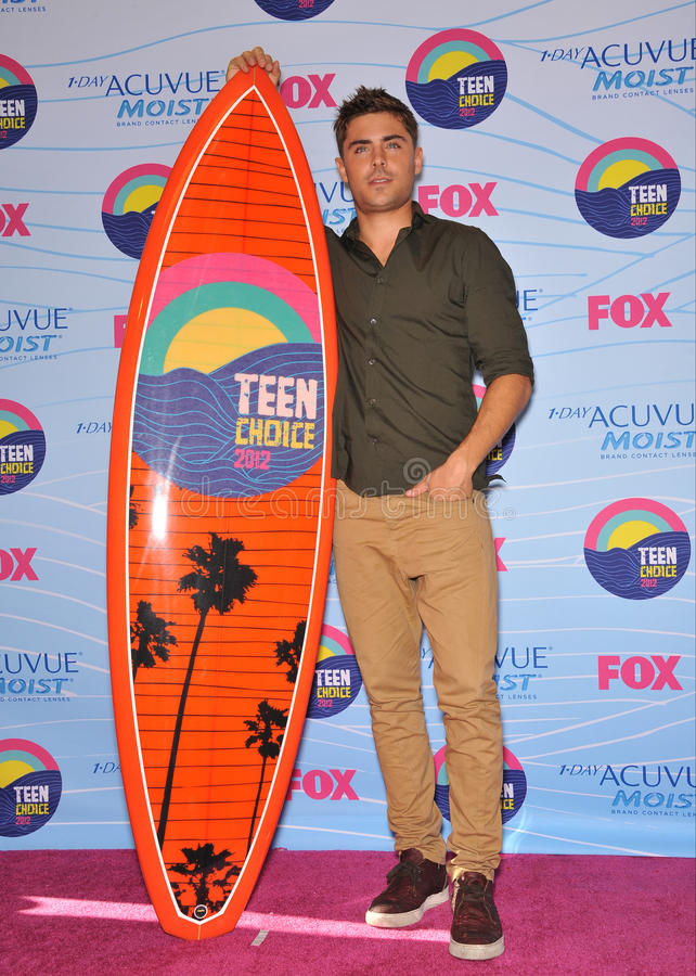 Zac Efron. At the 2012 Teen Choice Awards at the Gibson Amphitheatre, Universal City. July 23, 2012 Los Angeles, CA Picture: Paul Smith / Featureflash royalty free stock photo