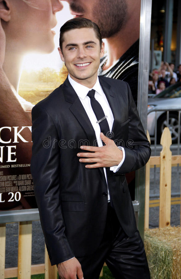 Zac Efron. UNITED STATES, HOLLYWOOD, APRIL 16, 2012: Zac Efron at the Los Angeles premiere of 'The Lucky One' held at the Grauman's Chinese Theater in Hollywood stock photos