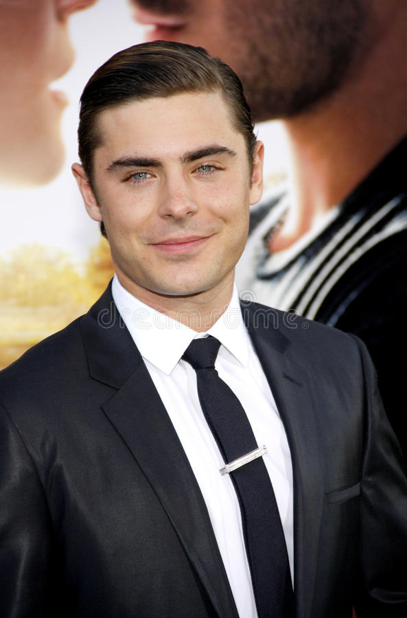 Zac Efron. UNITED STATES, HOLLYWOOD, APRIL 16, 2012: Zac Efron at the Los Angeles premiere of 'The Lucky One' held at the Grauman's Chinese Theater in Hollywood royalty free stock photo