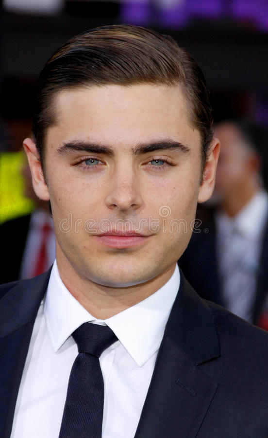 Zac Efron. UNITED STATES, HOLLYWOOD, APRIL 16, 2012: Zac Efron at the Los Angeles premiere of 'The Lucky One' held at the Grauman's Chinese Theater in Hollywood stock photo