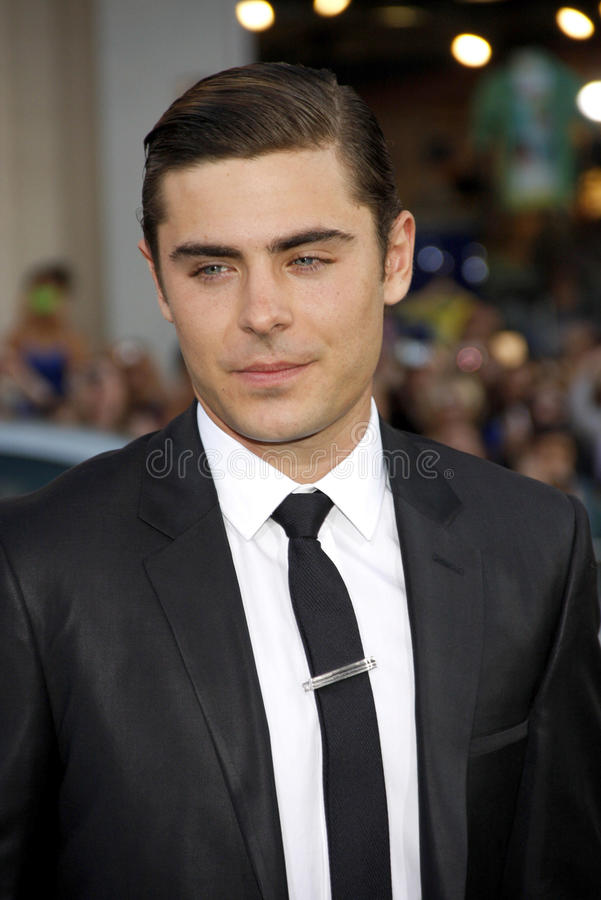 Zac Efron. UNITED STATES, HOLLYWOOD, APRIL 16, 2012: Zac Efron at the Los Angeles premiere of 'The Lucky One' held at the Grauman's Chinese Theater in Hollywood stock image