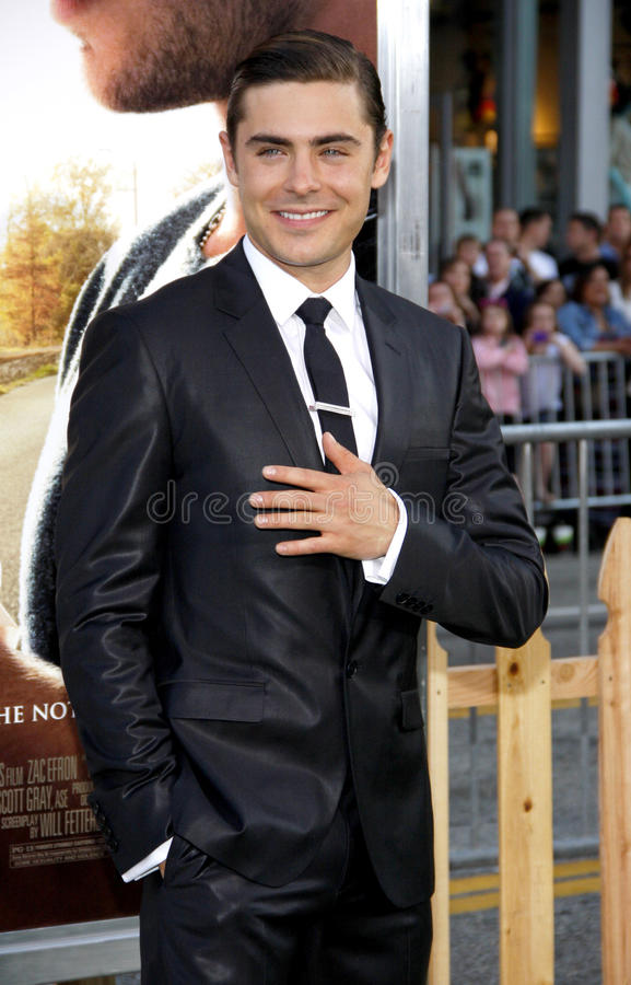 Zac Efron. UNITED STATES, HOLLYWOOD, APRIL 16, 2012: Zac Efron at the Los Angeles premiere of 'The Lucky One' held at the Grauman's Chinese Theater in Hollywood stock photography
