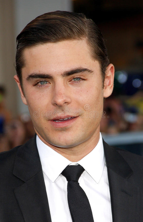 Zac Efron. UNITED STATES, HOLLYWOOD, APRIL 16, 2012: Zac Efron at the Los Angeles premiere of 'The Lucky One' held at the Grauman's Chinese Theater in Hollywood stock images