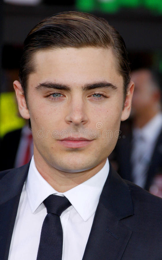Zac Efron. UNITED STATES, HOLLYWOOD, APRIL 16, 2012: Zac Efron at the Los Angeles premiere of 'The Lucky One' held at the Grauman's Chinese Theater in Hollywood royalty free stock photography
