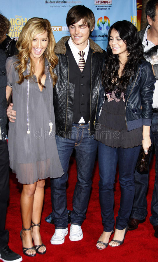Zac Efron, Vanessa Hudgens i Ashley Tisdale, zdjęcie royalty free