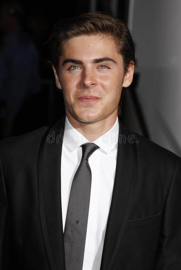 Zac Efron. At the Los Angeles premiere of `High School Musical 3: Senior Year` held at the Galen Center in Los Angeles, USA on October 16, 2008 royalty free stock photos