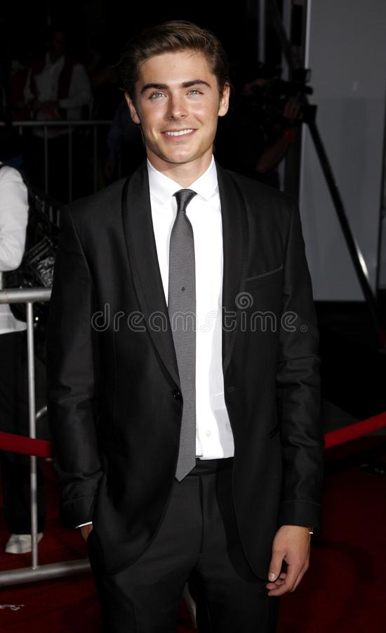 Zac Efron. At the Los Angeles premiere of `High School Musical 3: Senior Year` held at the Galen Center in Los Angeles, USA on October 16, 2008 stock photography