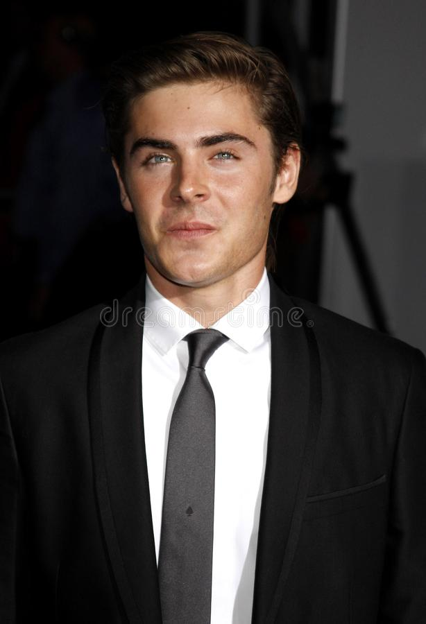 Zac Efron. At the Los Angeles premiere of `High School Musical 3: Senior Year` held at the Galen Center in Los Angeles, USA on October 16, 2008 royalty free stock image