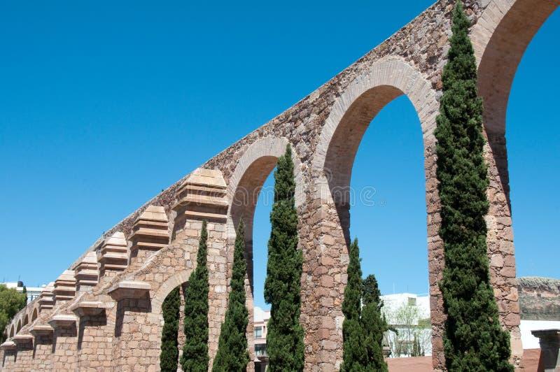 Zacatecas Aqueduct, Mexico stock photography