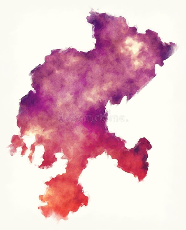 Zacatecas-Staatskarte von Mexiko vor einem weißen Hintergrund lizenzfreie abbildung