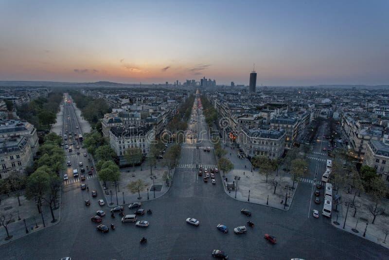 Zachód Paryż obraz stock