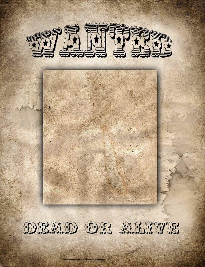 zachód plakatu dziki ilustracja wektor