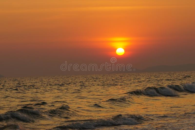 Zachód słońca zdjęcia royalty free