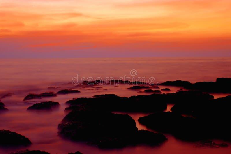 zachód słońca goa indu obraz royalty free