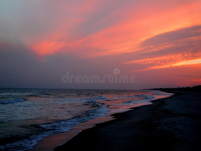 Zachód Słońca Na Florydę Fotografia Royalty Free