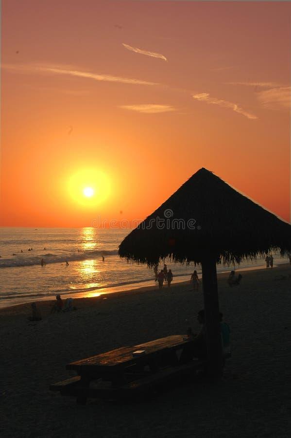 zachód słońca na plaży zdjęcia stock