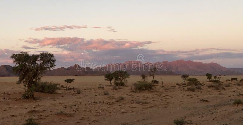 Zachód słońca na pustyni fotografia stock