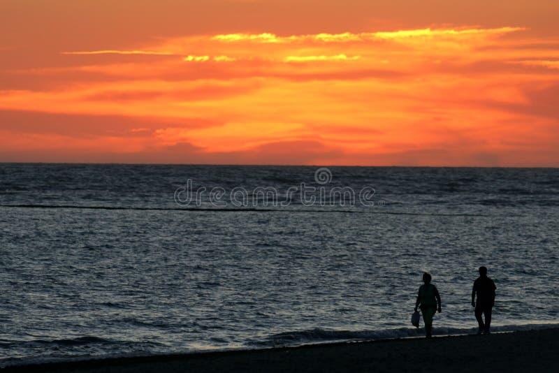 zachód słońca na spacer obrazy royalty free