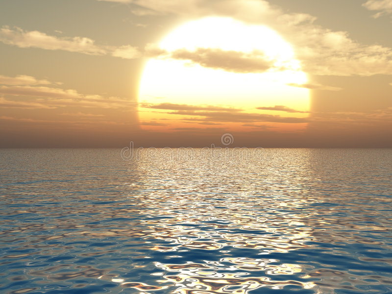 zachód słońca nad morza czarnego royalty ilustracja