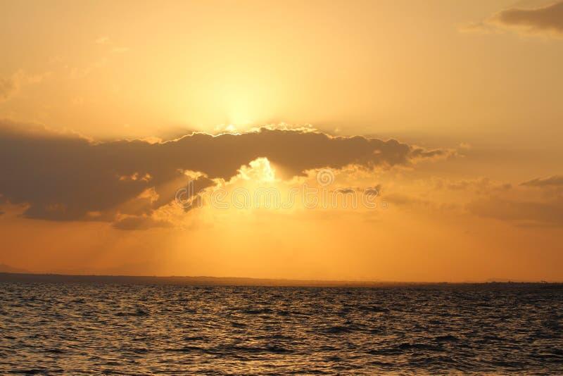 zachód słońca nad morza czarnego zdjęcia royalty free