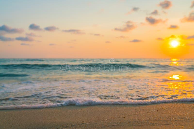 zachód słońca nad morza czarnego zdjęcie stock