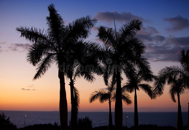 zachód słońca nad morza czarnego Kuba obraz stock