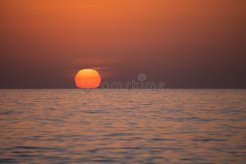 zachód słońca nad morza czarnego seascape obraz royalty free