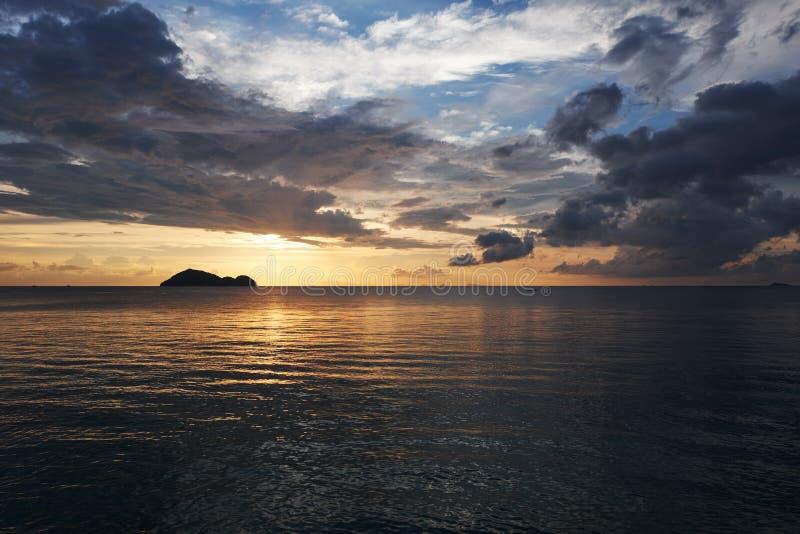 zachód słońca nad morza czarnego obrazy royalty free