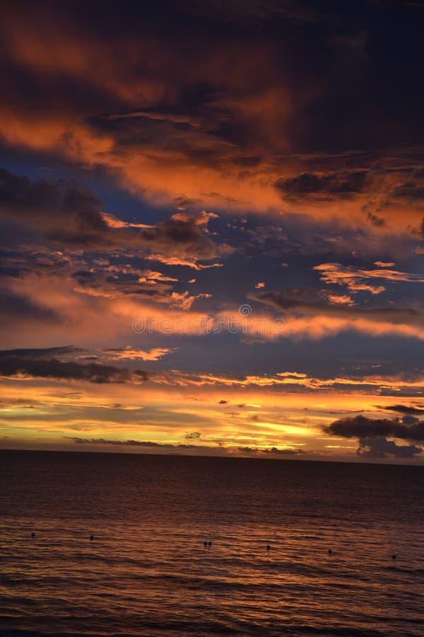 zachód słońca nad ocean obraz royalty free