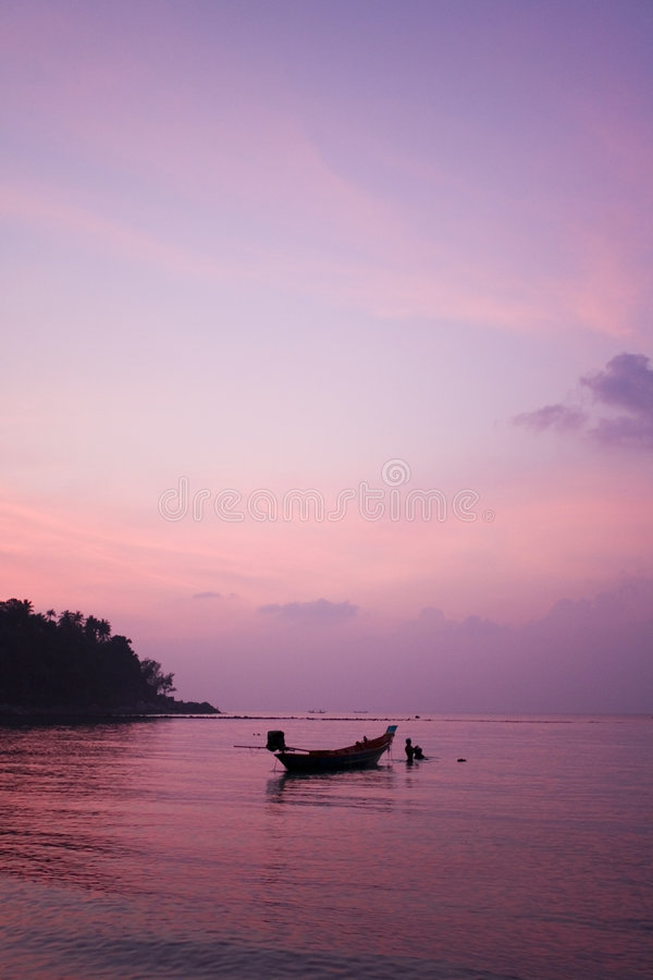 zachód słońca tropikalny Thailand zdjęcie royalty free
