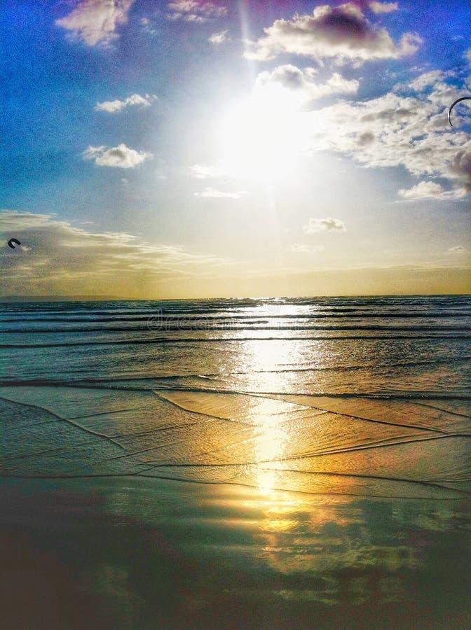 Zachód słońca w oceanie obrazy stock
