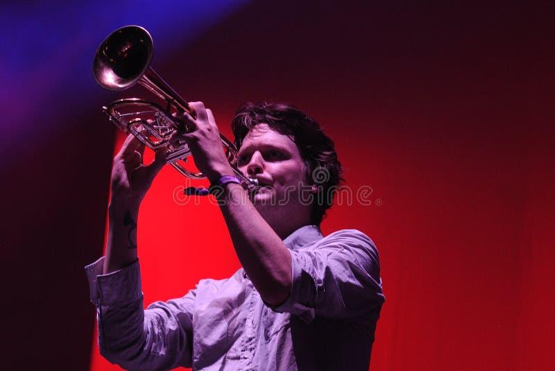 Zach Condon, cantor mexicano de Beirute fotos de stock royalty free