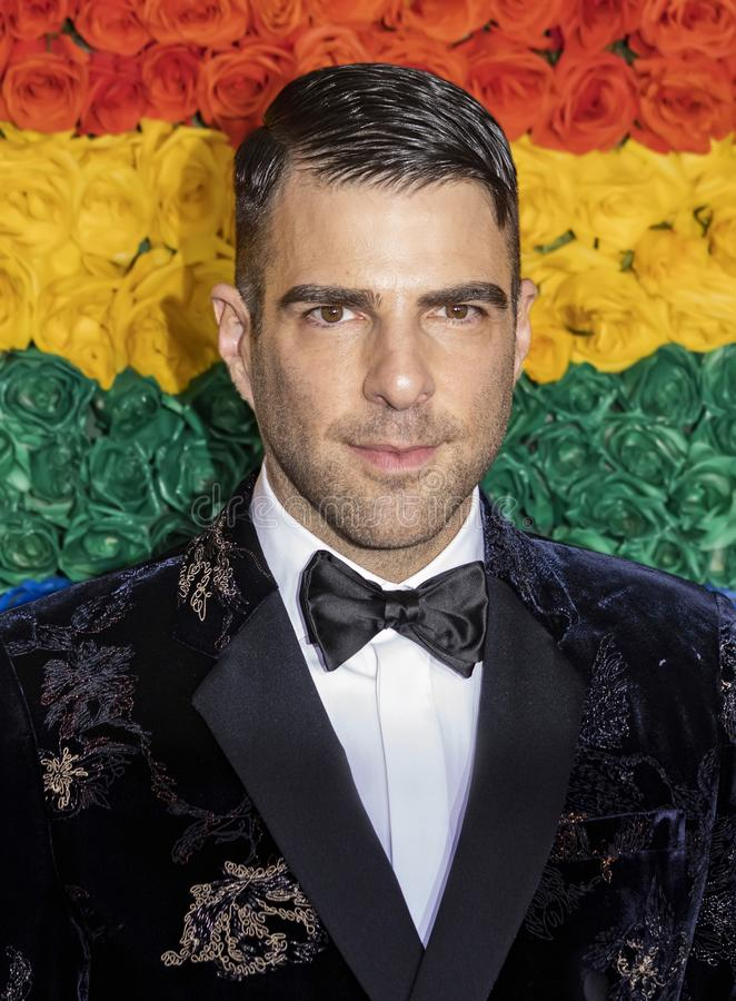 Zachary Quinto bij 2019 Tony Awards stock foto