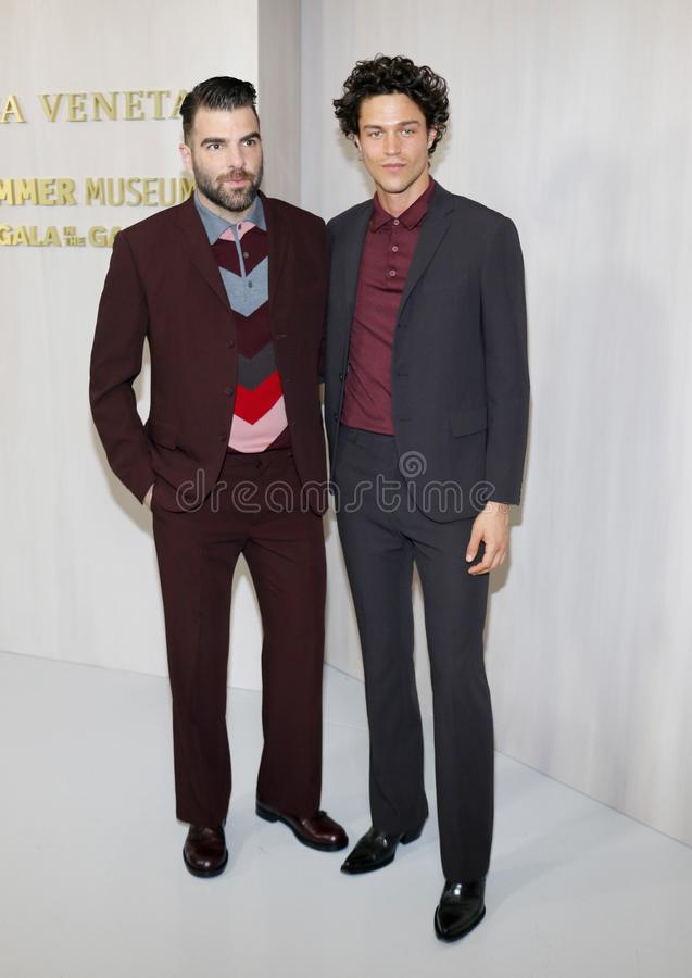 Zachary Quinto and Miles McMillan. At the Hammer Museum Gala In The Garden held at the Hammer Museum in Westwood, USA on October 14, 2017 stock photo