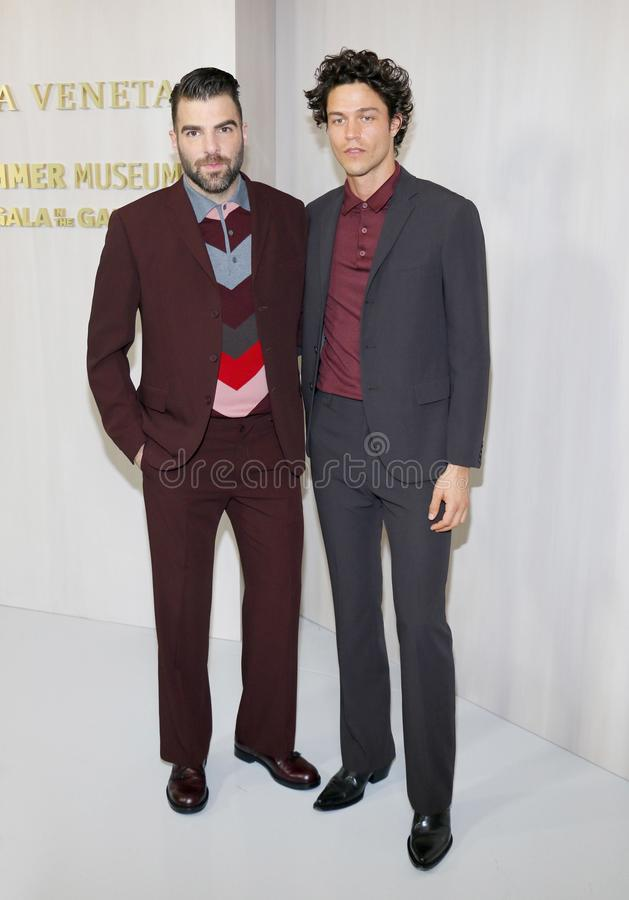 Zachary Quinto and Miles McMillan. At the Hammer Museum Gala In The Garden held at the Hammer Museum in Westwood, USA on October 14, 2017 stock images