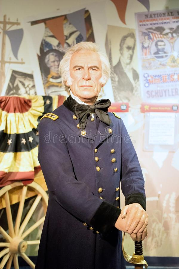 Zachary Taylor Wax Figure stock afbeelding