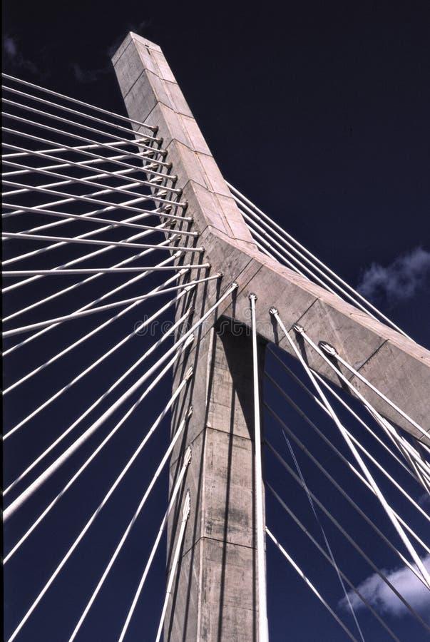 Zachim桥梁,波士顿,麻省 库存图片