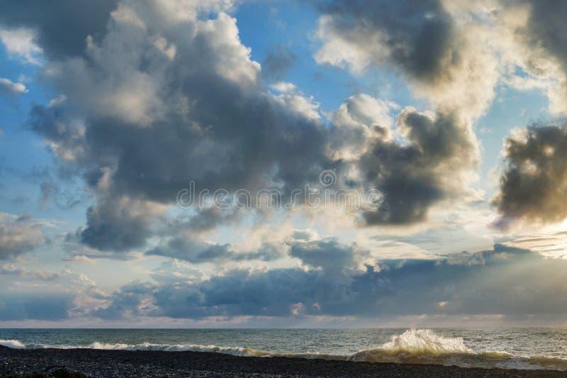 zachmurzone niebo obraz royalty free