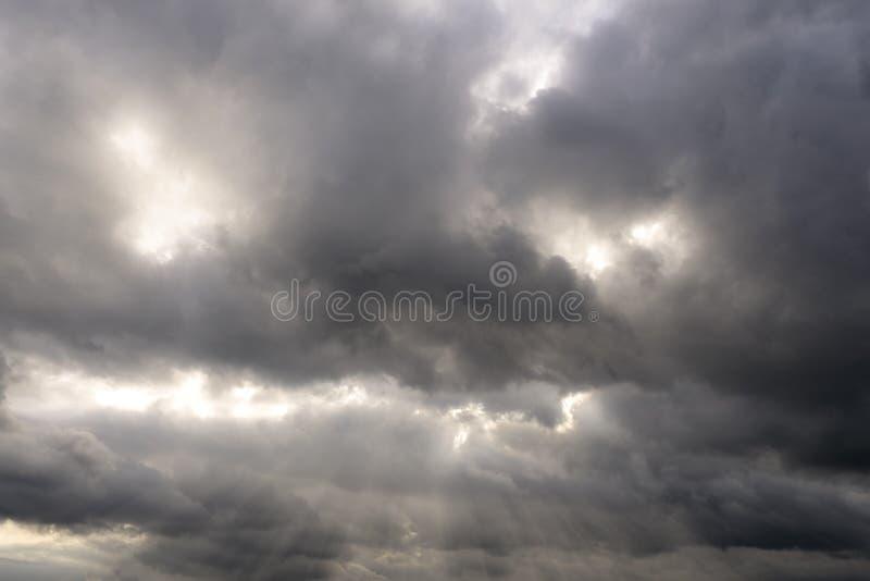 2 zachmurzone niebo obraz stock