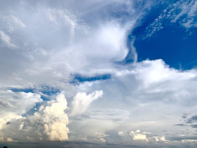 zachmurzone niebo obraz stock