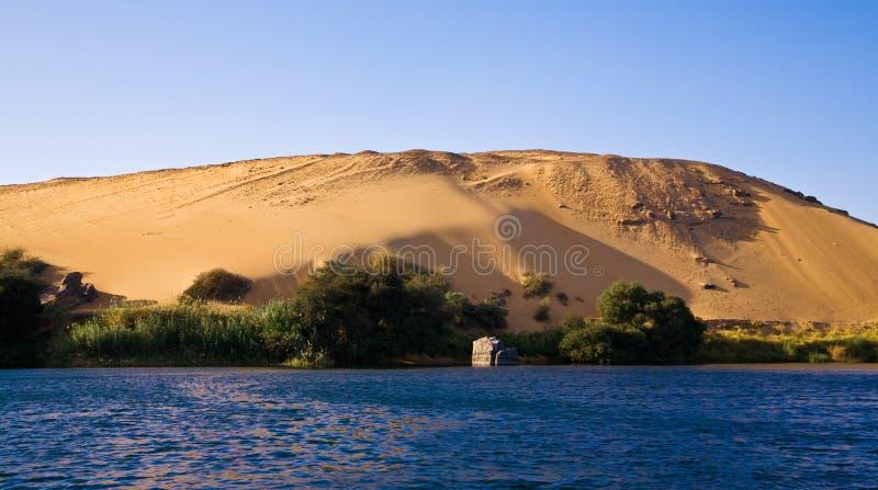 Zachodni bank rzeczny Nil zdjęcia stock
