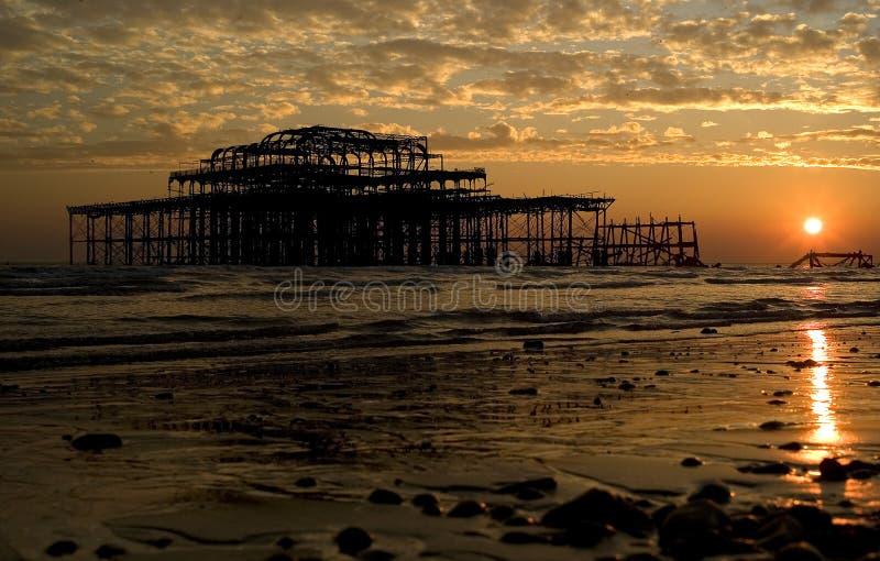 zachodni Brighton molo obraz stock
