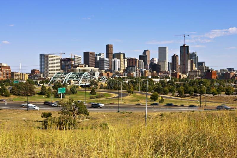 zachodni Denver linia horyzontu obrazy stock