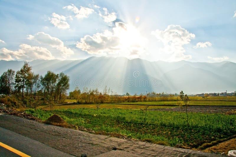 Zachodni Drogowy Erhai jezioro obraz stock